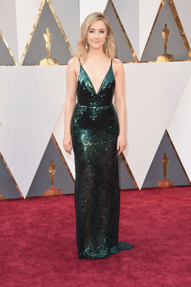 Saoirse Ronan in emerald green