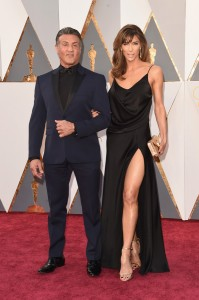 Sylvester Stallone (L) and Jennifer Flavin