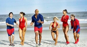 Baywatch is Back in Red, Water and Beach