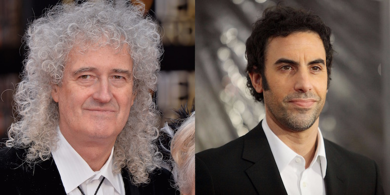 Queen Guitarist Brian May Fires Back at Sacha Baron Cohen