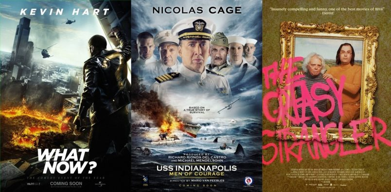 TRAILERS: Kevin Hart: What Now?, USS Indianapolis: Men of Courage + The Greasy Strangler