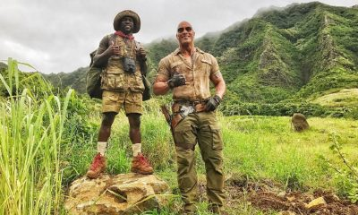 Dwayne Johnson Gets Kevin Hart's Big D in The Back on Jumanji Set