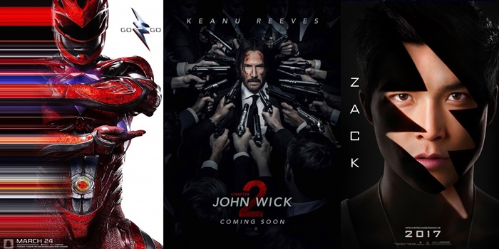 TRAILERS: John Wick: Chapter 2, The Great Wall + Power Rangers