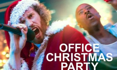Office Christmas Party Solo + Illustration Action Posters
