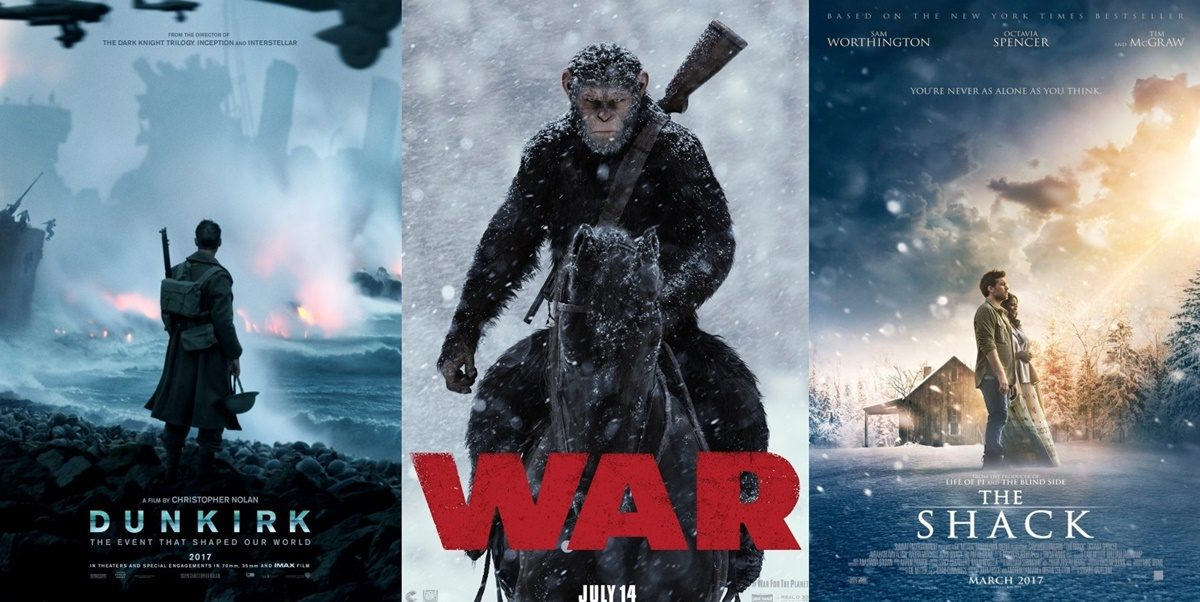 TRAILERS: War for the Planet of the Apes, The Shack + Dunkirk