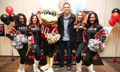 Tony Gonzalez + Atlanta Falcon Cheerleaders