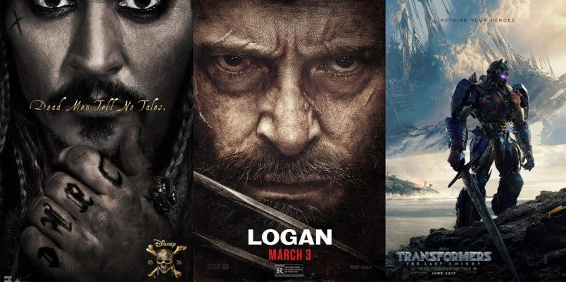 MOVIE TRAILERS: Guardians 2, Pirates 5, Logan, Transformers 5