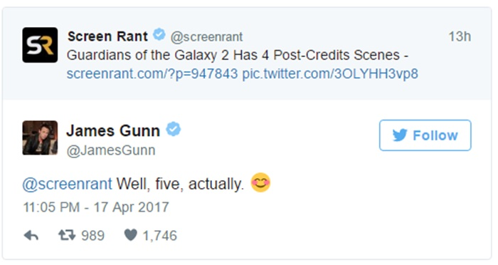 Hold Up! Guardians 2 Has 5 Post-Credits scenes