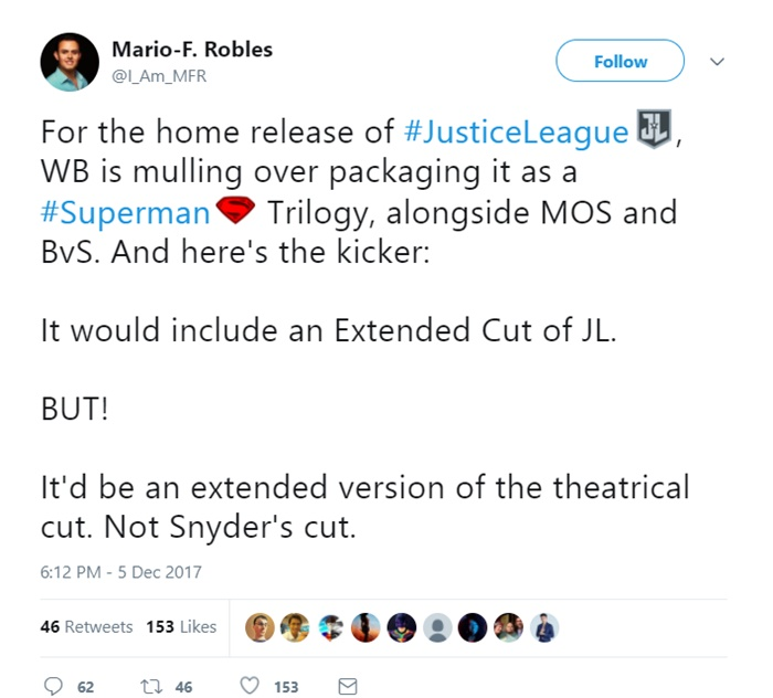 BITES: Justice League Gets Extended Cut, Queen Biopic Replaces Singer, Alex Proyas Against Crow Remake
