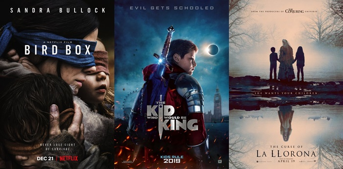 TRAILERS: Bird Box, The Kid Who Would Be King, The Curse of La Llorona