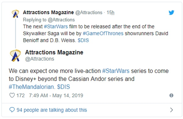 Another 'Star Wars' Live-Action Series Planned For Disney+