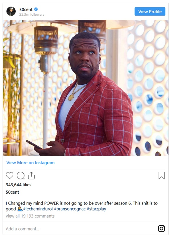 50 Cent Says Power NOT Ending This Season