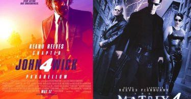 Keanu Reeves 'John Wick 4' + 'Matrix 4' Hits Theaters Same Day