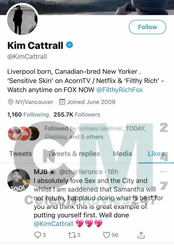 Kim Cattrall Reacts to Sex and the City Revival